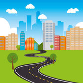 City urban design. — Stock Vector