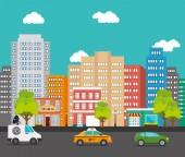 Diseño urbano de la ciudad. — Vector de stock