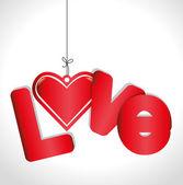 Romantic love design. — Stock Vector