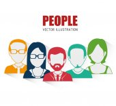 People digital design. — Stock Vector
