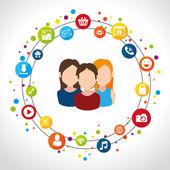 Social media design. — Stock Vector