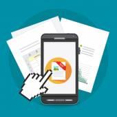 Spreadsheet digital design — Stock Vector