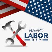 Happy labor day design. — Stock Vector