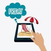 Friday Celebration  design. — Stock Vector