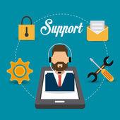 Customer service design. — Stockvektor