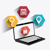 Mobile apps design. — Stock Vector