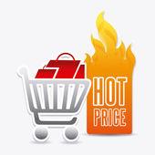 Heta pris shopping design. — Stockvektor