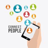 Connecter la conception des gens. — Vecteur