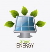 Green energy design. — Stock Vector