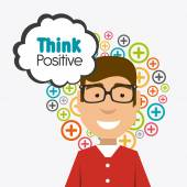 Think positive design. — Stock Vector