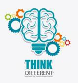 Think different design. — Stock Vector
