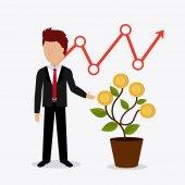 Profit business design. — Stock Vector