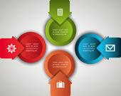 Infographik design. — Stockvektor