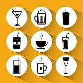 Drinks icons design — Stock Vector