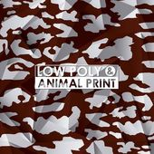 Low poly animal design — Stock Vector