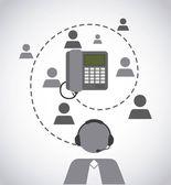 Customer service design — Stock Vector