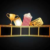 Film award ontwerp — Stockvector