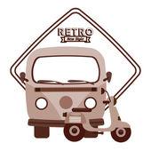 Retro lifestyle — Stock Vector