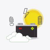 Solar energy design. — Stock Vector