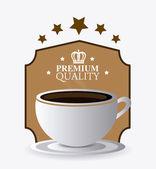 Coffee drink design. — Stock Vector