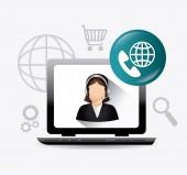 Customer service design. — Stock Vector