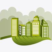 Ecocity design. — Stock Vector
