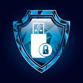 Sistema di sicurezza — Vettoriale Stock