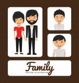 Семейный альбом — Cтоковый вектор