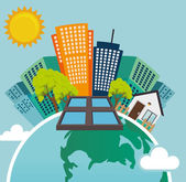 Green energy design. — Stock Vector