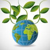 Дизайн зеленой энергии. — Cтоковый вектор