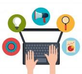 Digital and social marketing graphics. — Stock Vector