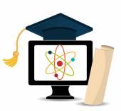Educação eletrônica ou e-learning — Vetor de Stock