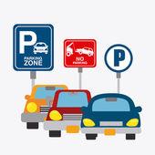 Parking zone graphic design — Stock Vector