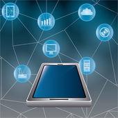 Teknoloji dijital tasarım. — Stok Vektör