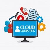 Облако вычислительным Дизайн. — Cтоковый вектор