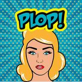 Pop art cartoon graphics — Stock Vector