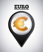 Euro symbol design — Stock Vector