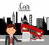 Car insurance design — Stock Vector