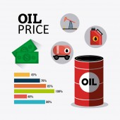 Petroleum and oil industric infographic — Stock Vector