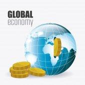 Глобальная экономика, деньги и бизнес — Cтоковый вектор