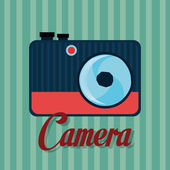 Photography and camera vintage design — Stock Vector