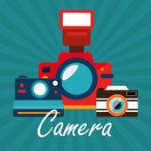 Fotografering och kamera vintage design — Stockvektor