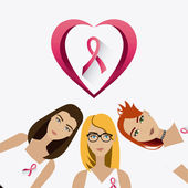 Fight against breast cancer campaign — Stock Vector