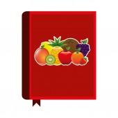 Libro di ricette di frutta — Vettoriale Stock