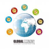 Global economy — Stock Vector