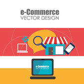 Electronic commerce design — Stock Vector