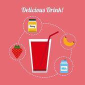 Delicious drink design — Stock Vector