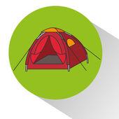 Camping-outdoor-design — Stockvektor