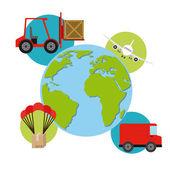 Delivery service  design — Stock Vector