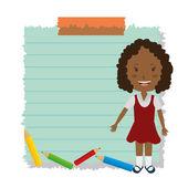 Geri okul tasarım — Stok Vektör